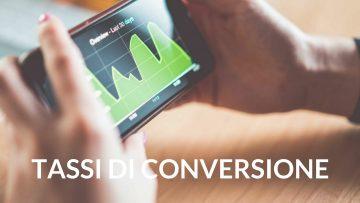 tassi di conversione